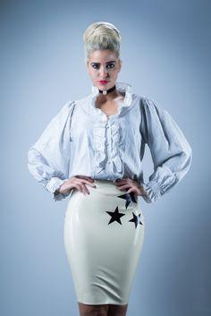 Fetish Latex Steampunk style photoshoot  Jessica Wolf   #latex #pencilskirt #alternative #model