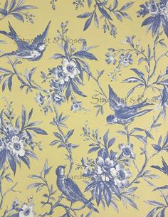 Browse through our collection of Toile de Jouy wallpaper designs in a range of colours. Find classic French Toile wallcoverings here & buy online today Scrapbook Paper, Scrapbooking, Toile Wallpaper, Art Antique, Surface Pattern Design, Mellow Yellow, Designer Wallpaper, Paper Art, Paper Crafts