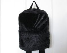 Crafted Witchy Art Wearables by LilaRune Cyberpunk, Leather Backpack, Fashion Backpack, Goth, Backpacks, Trending Outfits, Unique Jewelry, Handmade Gifts, Crafts