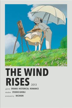 Studio Ghibli Poster, Studio Ghibli Movies, Manga Anime, Otaku Anime, Poster Anime, Wind Rises, Simple Anime, Anime Suggestions, Anime Titles