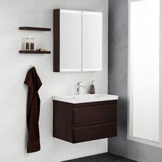 Scanbad Modern Badmöbelset 90cm mit 2 Schubladen und Spiegel mit ... | {Waschtischunterschrank modern 85}