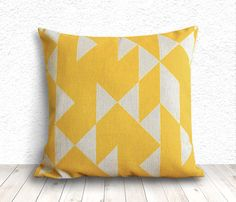 Throw Pillows, Geometric Pillow Cover, Pillow Cases, Pillow Covers, Decorative Pillows, Linen Pillow Covers 18x18 - Printed Geometric - 004