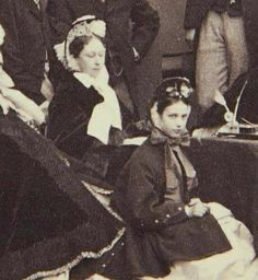 1863 : Princess Alice, GD of Hesse with Princess Dagmar of Denmark, future Czarina Maria Feodorovna