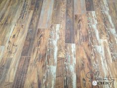 Reclaimed Looking Laminate ~ House Update - Shanty 2 Chic Installing Laminate Flooring, Wood Laminate, Hardwood Floors, Wood Flooring, Armstrong Flooring, Shanty 2 Chic, Floors And More, Floor Colors, Kitchen Redo