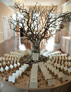 dried branches .. great center piece ideas