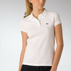 6f3fc7e343 Lacoste Women's White Polo Authentic white women's Lacoste polo.