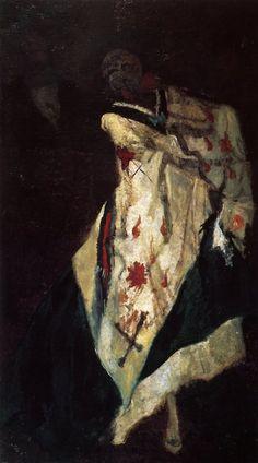 Félicien Rops. La Mort au bal masqué, 1895