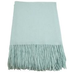 This throw, made of a blend of cashmere and wool, is the perfect piece to cozy up with on a summer night. | $115