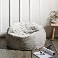 There's faux fur and then there's this faux fur – the most glorious, luxurious faux fur you'll ever touch. This statement-making bean bag has a heavenly long pile, which will give any room an unbelievably cosy and special feel, Bedroom Chair, Room Decor Bedroom, Bedroom Ideas, My New Room, My Room, Spare Room, Bean Bag Living Room, Bean Bag For Bedroom, Faux Fur Bean Bag