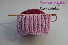 Aprende a tejer Punto Inglés ¡ Reversible! #Agujas KNOOKING#