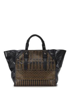 Serena Hammered Metals Tote by Isabella Fiore at Gilt