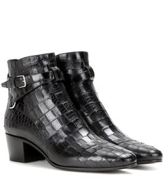 Saint Laurent Blake 40 Jodhpur leather ankle boots Black $159.00