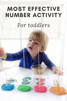 Most Effective toddler activity lesson to teach toddlers colors and numbers.