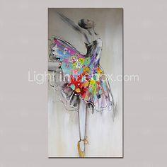 Pintados à mão Paisagem / Pessoas / Fantasia Pinturas a óleo,Tradicional 1 Painel Tela Hang-painted pintura a óleo For Decoração para casa de 4832055 2016 por R$529,55                                                                                                                                                                                 Mais