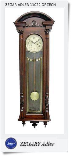 Duży zegar szafkowy mechaniczny Adler (11022)