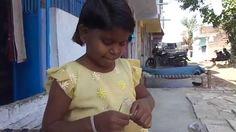 Uncut little girl making necklet