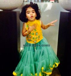 Pastel Color Net Pleats Lehenga - Indian Dresses Baby Girl Dress Patterns, Little Girl Dresses, Baby Dress, Kids Party Wear, Kids Wear, Lehanga For Kids, Kids Lehenga Choli, Saree, Kids Blouse Designs