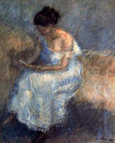 """Isidre Nonell Monturiol (1873 - 1911). """"Estudio, 1906"""". Óleo sobre lienzo. 66 x 53,5 cms. Colección particular, Barcelona. España."""