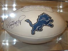 Matthew Stafford Detroit Lions Signed Autographed Logo Football Authentic Certified Coa with Free Case by All-Star Sports Memorabilia. $179.99. Buying nice signed Logo football comes with coa and matching numbers.