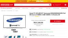 [Americanas.com] Smart TV 3D LED 55 ´ Samsung UN55H8000AGXZD Full HD Curva 4 HDMI 3 USB 1200Hz + 2 Óculos 3D por R$ 5.499,99