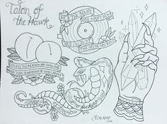 The front bottoms tattoo. Fruit tattoo. Snake tattoo. Vinyl tattoo. Devil hand tattoo. Crystal tattoo