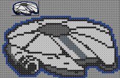 Millennium Falcon - Star Wars Perler Bead Pattern by Sebastien Herpin Perler Beads, Perler Bead Art, Pixel Art Star Wars, Star Wars Art, Plastic Canvas Crafts, Plastic Canvas Patterns, Perle Hama Star Wars, Cross Stitch Designs, Cross Stitch Patterns