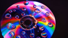 Water droplets on CD.