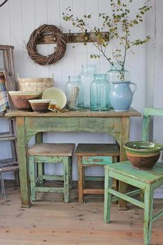 Shabby Chic home decor explanation reference 8777134298 to get for a simply smashing, smart room. Please check out the webpage today for cool clues. Beach Cottage Style, Beach Cottage Decor, Rustic Cottage, Beach House, Shabby Chic Homes, Shabby Chic Decor, Muebles Shabby Chic, Deco Champetre, Vibeke Design