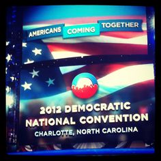 The background before the DNC actually started.