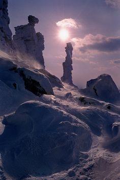 Kolchim stone, Ural Mountains, Russia.