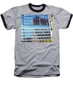 New York City Baseball T-Shirt featuring the photograph New York City Skyscraper Art 5 by Judi Saunders