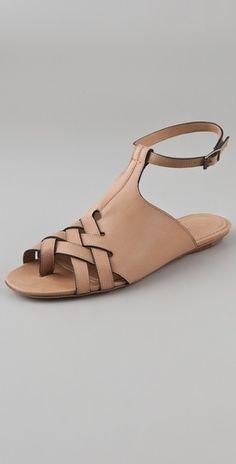 Derek Lam Elan Flat Sandals - StyleSays