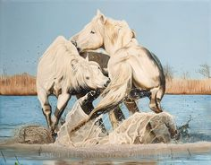 Waterboys by Michelle Symington, a equine artist from South Africa. Love the unique composition!