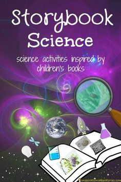 Storybook Science Series featuring science activities inspired by children's books. Topics include experiments, engineering, Earth and space science, and ecosystems and the environment.