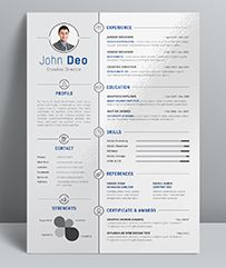Ikebukuro Free Elegant Resume Template Gray For Ms Word  Classic