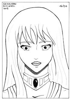 Anime Portraits - 16/24: I cavalieri dello zodiaco, Saori Kido. #Fanart #RitrattiAnime #AnimePortrait #Anime #Manga #Ritratto #Portrait #Ritratti #Portraits #IcavalieriDelloZodiaco #SeintoSeiya #LadyIsabel #SaoriKido #Saori #Kido
