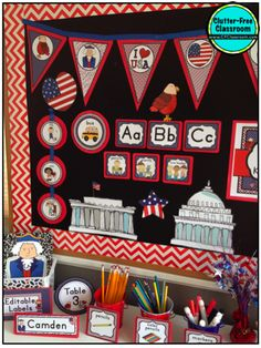 109 Delightful Patriotic Classroom Theme Ideas And Decor Images In