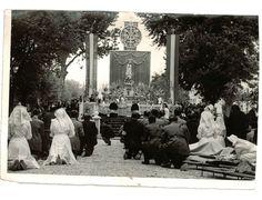 Misa de enfermos en el Paseo del Salón durante la 'visita' a Granada de la imagen de la Virgen de Fátima. 3 de octubre de 1949. Torres Molina/Archivo de IDEAL