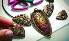 Beautiful polymer clay jewerly by russia artist