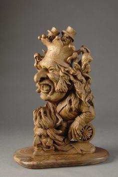 Wood carving sculpt...