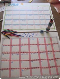 Summer Calendars - tutorial