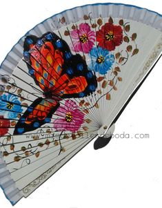 Painted Fan, Hand Painted, Chest Tattoo, Spanish Style, Hand Fan, The Originals, Umbrellas, Tattoos, Beautiful
