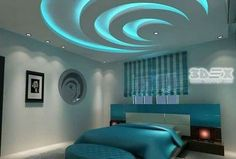 some of the new false ceiling designs for bedrooms, latest POP design for bedrooms and how to choose the POP false ceiling design which literally will transform the room interior decoration. Down Ceiling Design, Gypsum Ceiling Design, House Ceiling Design, Ceiling Design Living Room, Bedroom False Ceiling Design, False Ceiling Living Room, Home Ceiling, Living Room Designs, Ceiling Fan