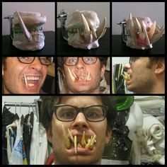 Making extreme prosthetic teeth for film. By Russ Adams of Escape Design FX and Syfy Channel Jim Henson's Creature Shop Challenge  www.escapedesignfx.com  #prosthetic #makeup #fx