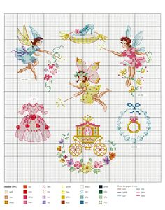 Veronique Enginger ''Fables, contes et comptines'' (fables and fairytale themed cross stitch) Funny Cross Stitch Patterns, Vintage Cross Stitches, Cross Stitch Charts, Cross Stitch Designs, Vintage Embroidery, Cross Stitch Fairy, Mini Cross Stitch, Cross Stitching, Cross Stitch Embroidery