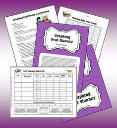 FREE Graphing Oral Fluency -  Literacy center or cooperative learning activity from Laura Candler's Teaching Resources on TpT. Please follow me on TpT to find out about more of my TpT freebies as I upload them. Thank you for visiting my TpT store!