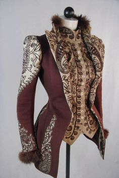 Wine and Ivory Jacket, 1890s - looove this