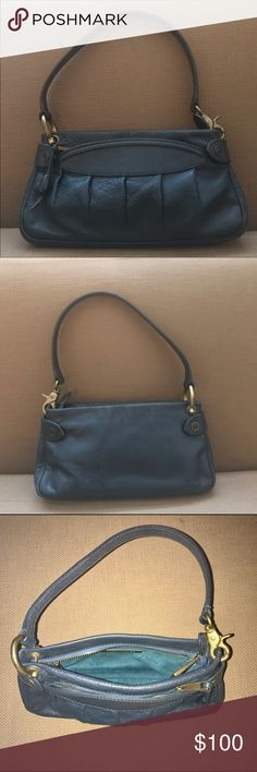"""Marc Jacobs Purse Authentic Marc Jacobs leather shoulder bag. Used and in great condition. Has outside pocket and inner pocket, both with zippers. Beautiful blue color. Measures 10""""L x 5""""H x 2""""W Marc Jacobs Bags Shoulder Bags"""