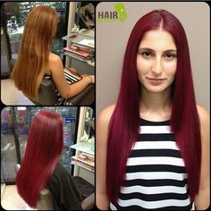 Inspired by the colour of beetroot, Darwin OCS Salon, Hair by Renee. created this beautiful violet red hue for her client. Just like beetroot itself, OCS permanent hair colour is packed full of antioxidants and certified organic ingredients! FORMULA<< She had about 1 inch of re growth (natural level 5) and her miss/ends were copper gold color (level 8). Root: 7MH (15ml) 9GD (15ml) XBR (10ml) , XBV (10ml) mixed with 9% (50ml) Mids/Ends: XBR (50ml) + XBV (50ml) mixed with 9% (100ml)