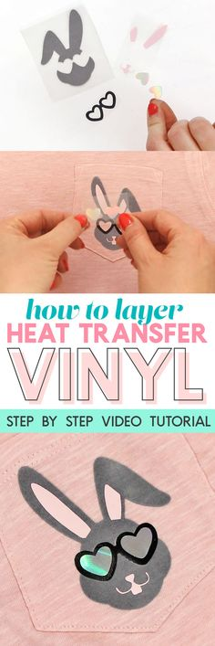 How to Layer Heat Transfer Vinyl: Cool Boys Easter Shirt DIY - Persia Lou - cricut - how to layer heat transfer vinyl with your silhouette – step by step video tutorial - Inkscape Tutorials, Cricut Tutorials, Hei Hei Moana, Plotter Silhouette Cameo, Silhouette Vinyl, Silhouette Cameo Files, Silhouette School, Silhouette Curio, Silhouette America